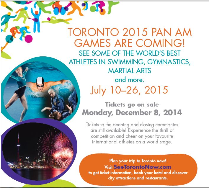 The toronto 2015 pan am games are coming where will you be